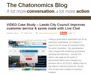 video case study leeds city council's live chat