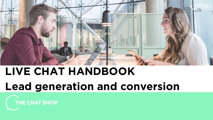 LIVE CHAT HANDBOOK for lead generation and ecommerce conversion